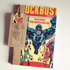 INHUMANS COMIC NOTEBOOK - A vintage comic hand bound into a notebok by PulpPaperHeaven on Etsy