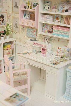 Craft room colors shades Ideas for 2019 Sewing Room Storage, Sewing Room Organization, My Sewing Room, Craft Room Storage, Sewing Rooms, Craft Rooms, Storage Ideas, Diy Storage, Muebles Shabby Chic