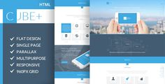 See More Cube+   One Page Parallax HTML Templateonline after you search a lot for where to buy
