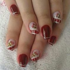 Rose Nail Art, Rose Nails, Gel Manicure Nails, Fun Nails, Birthday Nails, Nail Trends, Short Nails, Spring Nails, Christmas Nails