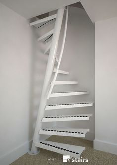 1m² ™ in white  Really, really cool spiral design Decorațiuni Interioare, Ascensor, Design Interior Rezidențial