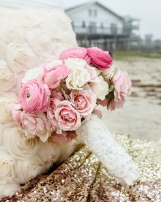 #PINK wedding bouquet! // Flowers by Floral Events, Photography by C.Baron Photography