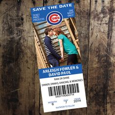 Chicago Cubs Ticket Save the Date