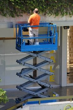 Electric Scissor Lifts Provide Movable Work Platform for Almost Any Environment.  #construction #aeriallifts