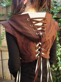 Falling Feather Hooded #Vest.