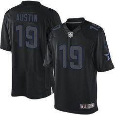 NFL Mens Elite Nike Dallas Cowboys #19 Miles Austin Impact Black Jersey