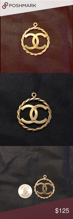 Chanel charm Authentic CC handmade in to a charm/pendant. Gold plated. CHANEL Jewelry Necklaces