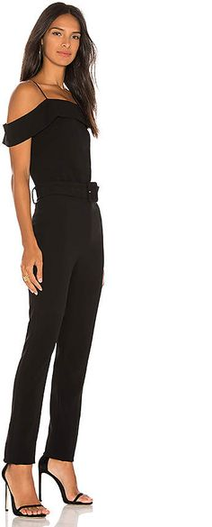 ca5796cf8f53 Theory Cold Shoulder Jumpsuit in Black from Revolve.com