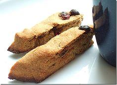 Cranberry Pumpkin Spice Biscotti (gluten free, grain free, vegan)