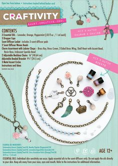CRAFTIVITY AromaJewelry Lovely Lockets  Essential Oil Jewelry Making Kit ** You can find more details by visiting the image link. (Note:Amazon affiliate link) Essential Oil Jewelry, Essential Oils, Kids Gadgets, Aroma Beads, Jewelry Making Kits, Fondant Tutorial, Doll Patterns, Peppermint, Jewelry Design