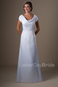 Beautiful, simple and modest a-line dress.