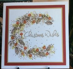 Christmas Wishes Wreath by Michele G - Cards and Paper Crafts at Splitcoaststampers