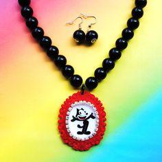 Felix the Cat necklace. <3!