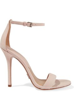 Heel measures approximately 105mm/ 4 inches Blush suede Buckle-fastening ankle strap Designer color: Ballet
