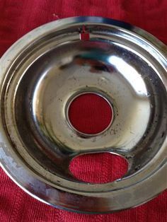 cleaning stove top burner trays with ammonia--minimal scrubbing, let it sit overnight!