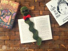 Bookworm Bookmark Crochet Pattern