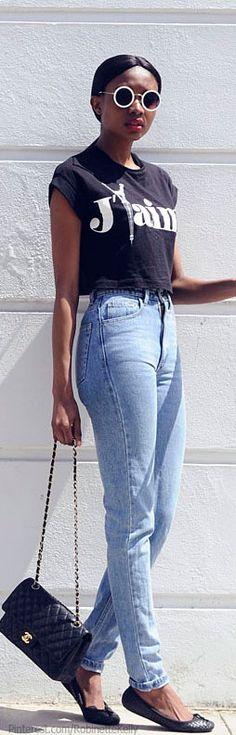 Bisous Natasha  | Asos sunglasses. American Apparel jeans. Chanel bag. Topshop shoes