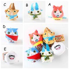 Anime Yo Kai Watch Youkai Jibanyan Komasan Whisper Soft Plush Doll Toy New | eBay