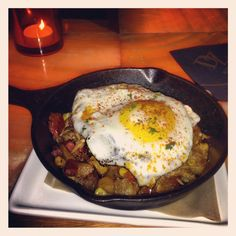 Pulled pork and potato hash with roasted corn, chorizo pamplona, fried egg and aioli #bocabistro #special