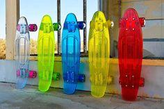 Sunset Skateboards Illuminating Transparent Skateboards • Highsnobiety