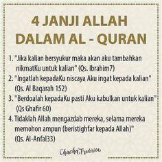 4 janji Allah dalam Quran. Janji Allah itu Pasti  .  | tap dua kali  | mention sahabatmu  |  4 janji Allah dalam Quran. Janji Allah itu Pasti  .  | tap dua kali  | mention sahabatmu  | tinggalkan komentar positif . . . #amanahdakwah #wismayatim #tolongsesama #indomuslimgram #dakwah #santri #nusantara #indonesia #islam #teladanrasul #pecintaquran #hijrah #hijrahsantun #kartunmuslimah #UstadzAdiHidayat #UstadzAbdulSomad #HananAttaki #PemudaHijrah #islammedia2 #KajianIslam #VideoCeramah…