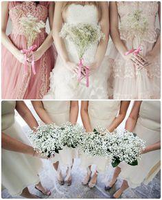 Vintage white Blumen Brautstrauß für Brautjungfer bei der Hochzeit