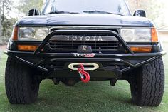 Trail-Gear® - Rock Defense™ Full Width Raw Front Winch Pre-Runner Bumper with Stinger Toyota Garage, Toyota 4x4, Toyota Trucks, Custom Truck Bumpers, Custom Trucks, Hummer H3, 2004 Toyota Tundra, Toyota Cruiser, Land Cruiser 80