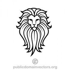 Vector illustration of lion's head. Image of a lion for logo design. Lion Clipart, Lion Vector, Art Clipart, Vector Graphics, Vector Art, Vector File, Svg File, Lion Tribal, Logo Lion