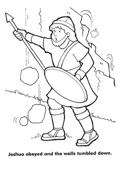 the walls of jericho crash down coloring pages | Children praying coloring page