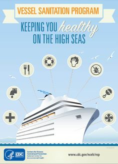 CDC keeps you healthy on the high seas. Did you know public health inspectors look at 8 specific areas on these ships?