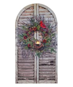 Love this Christmas Wreath Shutter Lighted Wall Art by Ohio Wholesale, Inc. on #zulily! #zulilyfinds
