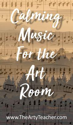 Art Lessons For Kids, Art Lessons Elementary, Elementary Teaching, Calming Music, Relaxing Music, Middle School Art, Art School, Art Classroom Management, Class Management