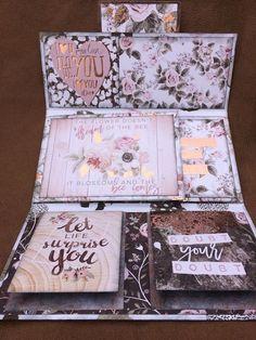 Scraps for Sanity: Rose Quartz Photo holder / Mini Folio Mini Albums, Mini Scrapbook Albums, Scrapbook Paper, Homemade Books, Memory Album, Baby Album, Photo Holders, Album Book, Mini Books