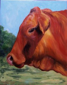 Cow Art Painting Buster Large Canvas Brown Brahman Original Painting by Cheri Wollenberg Cow Face, Cow Painting, Original Paintings, Oil Paintings, Cow Print, Western Art, Beach Art, Cattle, Large Prints