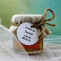 SET OF 12 Rustic raw honey wedding favors honey by EcohausProject, $48.00