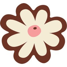 brown and whit flower