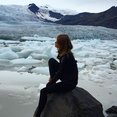 A gorgeous glacier lagoon creates a breathtaking backdrop for our upcoming outerwear collection. What do you think? #newcollection #workoutclothes #sportswear