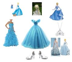 """cinderella"" by batman2274 ❤ liked on Polyvore featuring Stuart Weitzman, Disney and Cinderella"