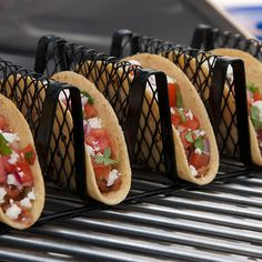 Improvements Non-Stick Taco Grill Rack (€15) ❤ liked on Polyvore featuring home, kitchen & dining, kitchen gadgets & tools, bbq, grill, grill accessories, non-stick taco grill rack, taco, taco rack and bbq rack