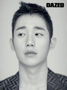 Jung Hae In - Dazed & Confused Magazine March Issue Asian Actors, Korean Actors, Jung In, Male Models Poses, Lee Bo Young, Bridal Mask, Korean Face, Yoo Ah In, Dazed And Confused