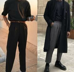 streetwear fashion Mens Fashion Outfit in Black. Trending Black Clothing Ideas for Men. Mode Outfits, Casual Outfits, Fashion Outfits, Fashion Trends, Fresh Outfits, Dress Casual, Mens Classy Outfits, Fashion Ideas, Guy Outfits
