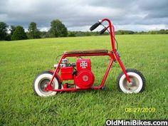 Red minibike with whitewalls Mini Moto, Mini Bike, Drift Trike, Small Engine, Go Kart, Tricycle, Custom Bobber, Chopper Motorcycle, Dirt Biking