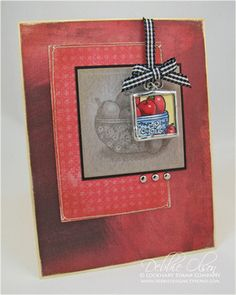 Inchie Charm with Apples in Chintz Lockhart Stamps