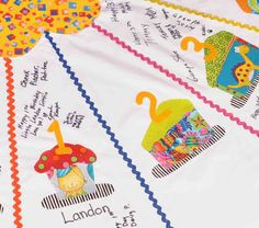 Birthday Tablecloth for Parties - Exclusive Cherished Keepsake - Children ages 1 - 16