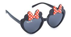 Primark - Younger Girl Black Minnie Mouse Heart Shaped Sunglasses