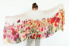 Tulips  Scarves Scarf Shawl  Cashmere digital by LINCOLNandLENOX