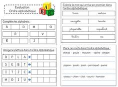 Evaluation sur l'ordre alphabétique