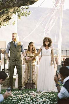 I just think this is Very cute. interracial wedding