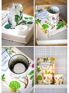 Recycled Book Votives