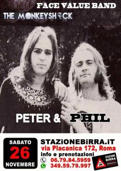 Peter & Phil. I concerti tributo di Genesis & Co. del weekend.